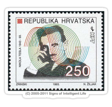 Croatia Tesla stamp