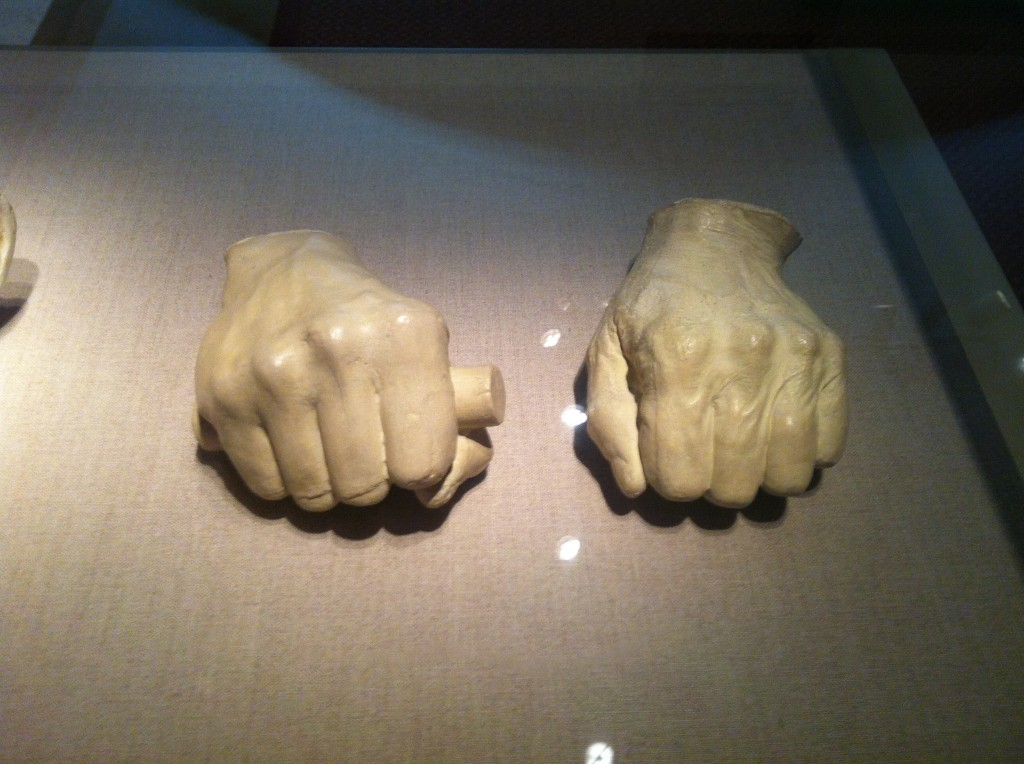 Abraham Lincoln hands