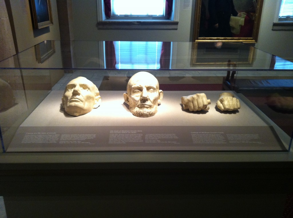 Abraham Lincoln life masks and hands