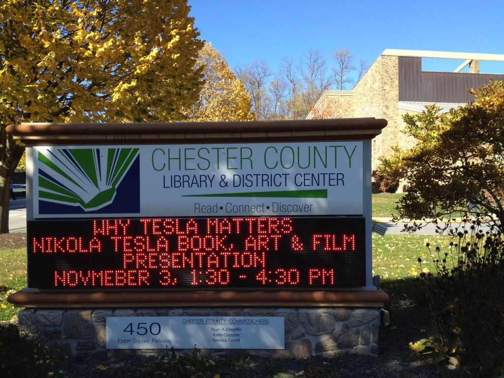 Library sign, photo by Ru Sun