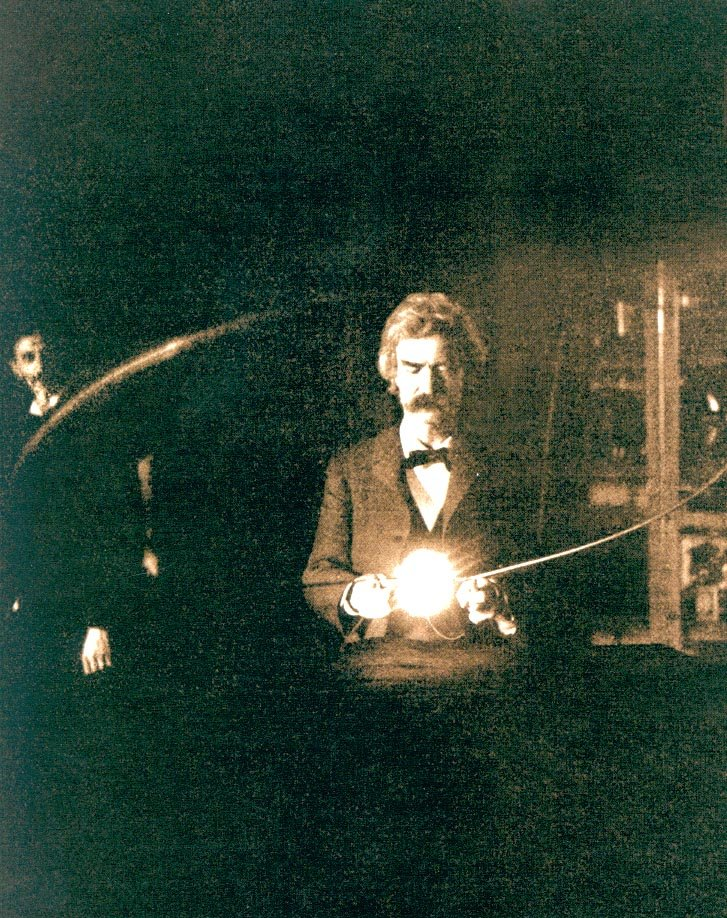 Mark Twain in Tesla's Laboratory