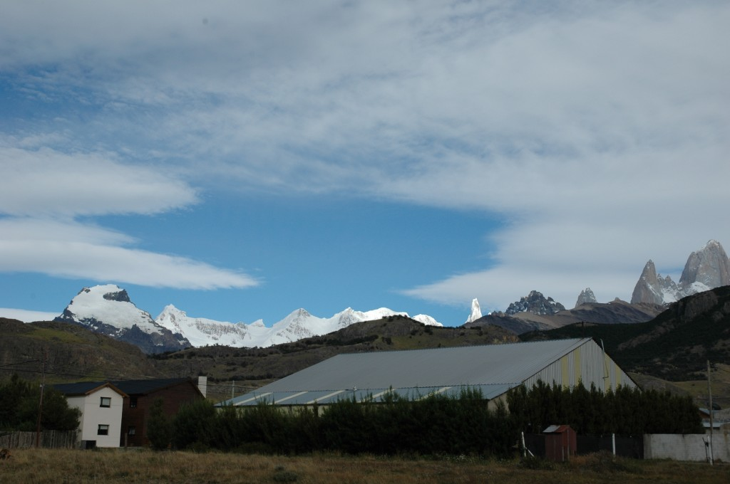 View of Fitz Roy from the cabana