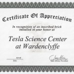 Wardencliffe Brick Certificate