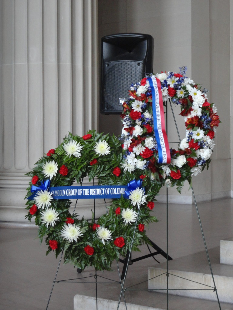 Lincoln Group of DC and New York Ave Presbyterian Church wreaths