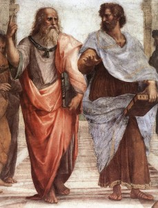 Plato and Aristotle detail - Wiki