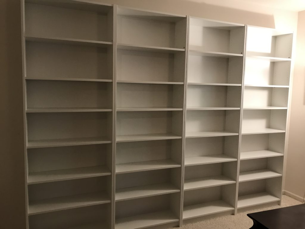 Abraham Lincoln library shelves